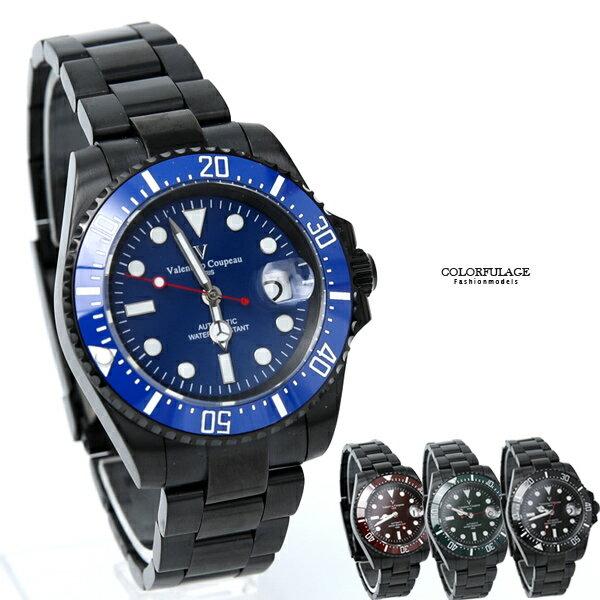 范倫鐵諾˙古柏夜光不鏽鋼機械錶柒彩年代【NEV47】正品原廠公司貨