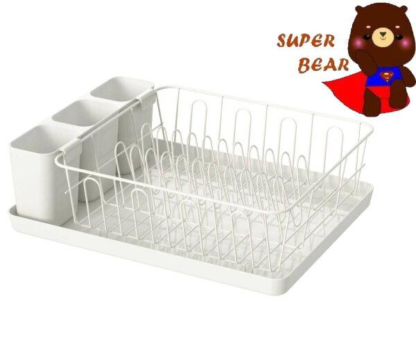 瀝水架碗盤瀝乾架白色免組裝碗盤瀝水架碗盤收納架