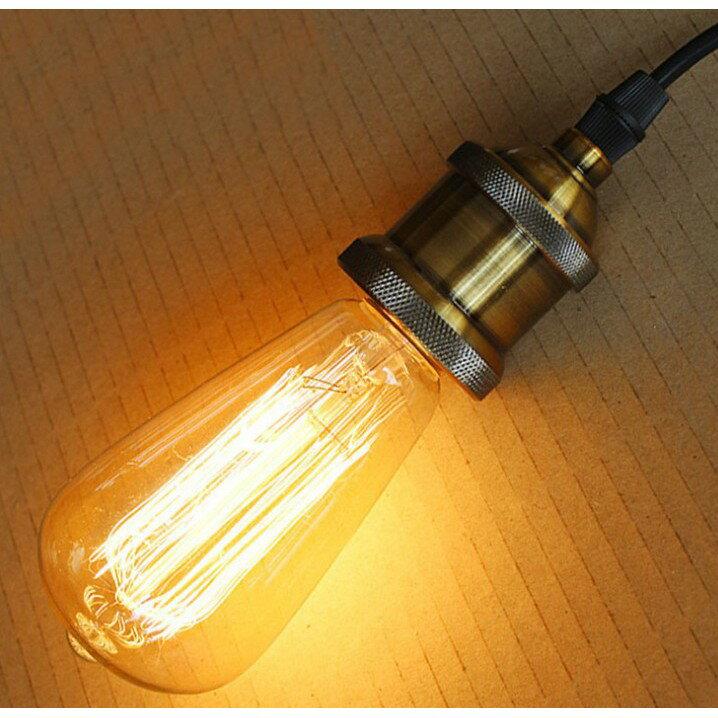 復古ST64傳統懷舊鎢絲造型G125燈泡 G95龍珠40W愛迪生E27美式LOFT餐廳咖啡廳酒吧居家