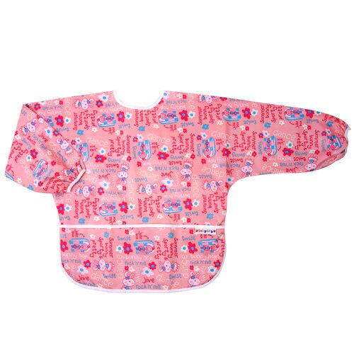 【點數下單送咖啡】Baby City娃娃城 - 防水長袖畫畫衣(3-5A) 粉色兔子 0