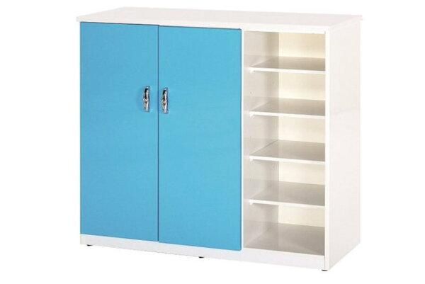 石川家居:【石川家居】860-05(藍白色)鞋櫃(CT-317)#訂製預購款式#環保塑鋼P無毒防霉易清潔