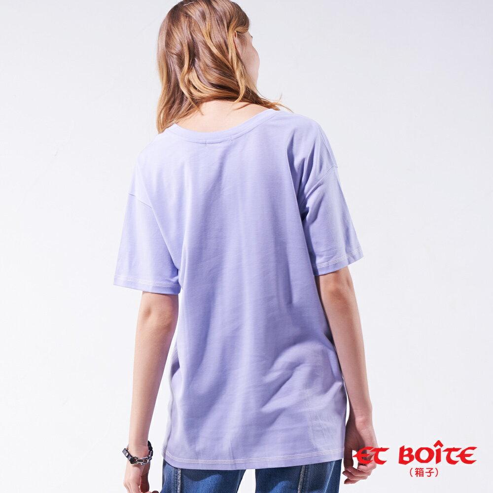 【19'新品】 雕刻印象長版短TEE(紫)- BLUE WAY ET BOîTE 箱子 2