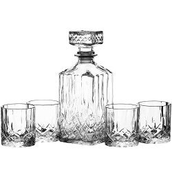 《KitchenCraft》烈酒瓶+玻璃杯4入