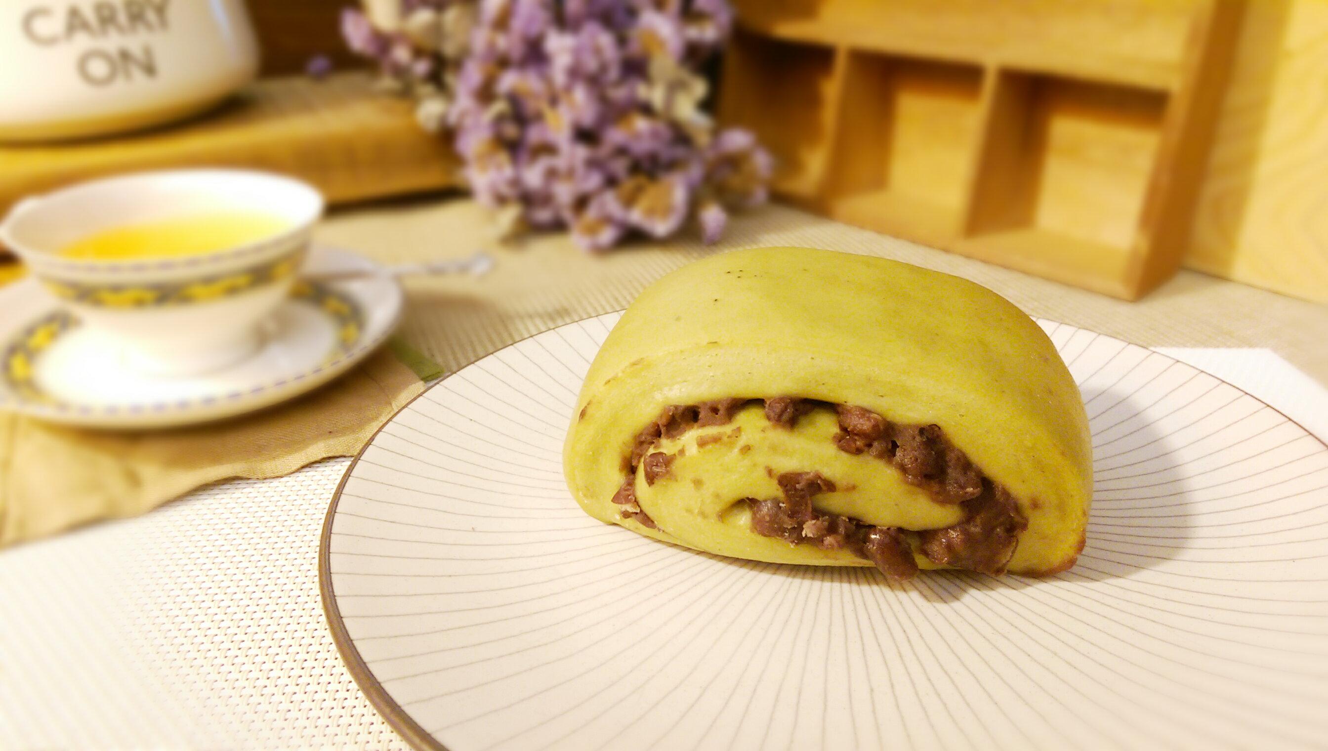 抹茶紅豆饅頭 2