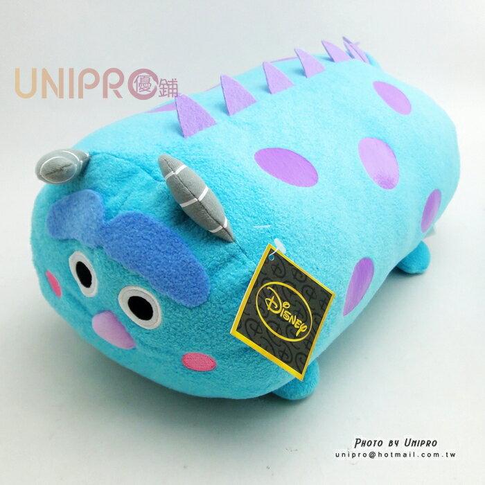 【UNIPRO】迪士尼 TSUM TSUM 疊疊樂 怪獸大學 毛怪 Sulley 圓柱 抱枕 靠枕 絨毛玩偶 禮物 正版
