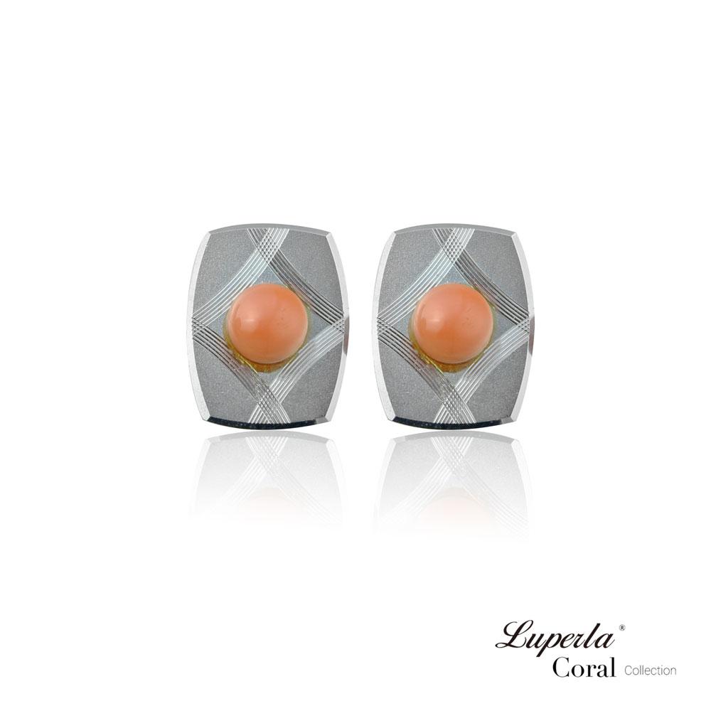 大東山珠寶 簡約線條 仕紳系列 天然粉珊瑚  西裝領徽 袖扣 2