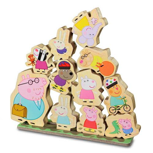 粉紅豬小妹木頭堆高遊戲組/ Peppa Pig Pile game/ 疊疊樂/ 伯寶行