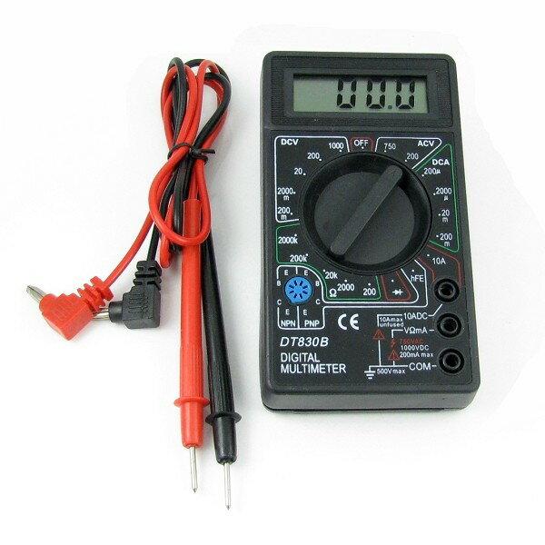 電子式三用電錶 數位式三用電表 簡易型的測電工具 DT-830B - 限時優惠好康折扣