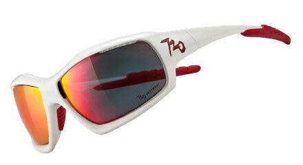 720armour Cross 飛磁換片運動型太陽眼鏡 A-Trak B320-2 亮白框灰紅色多層鍍膜防爆片