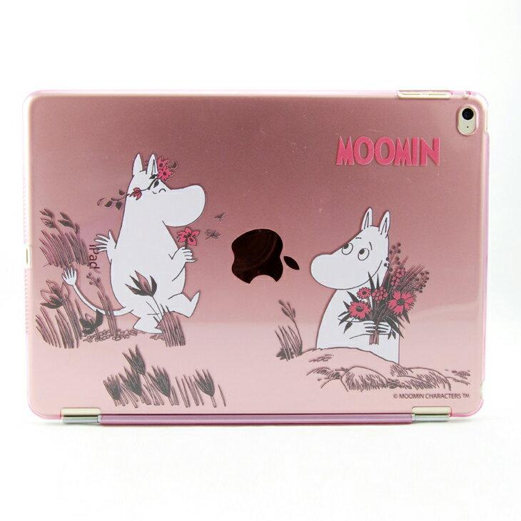 Moomin 嚕嚕米正版授權 -【 獻上我的愛(粉) 】:《 iPad Mini/Air/Pro 》水晶殼+Smart Cover(磁桿)