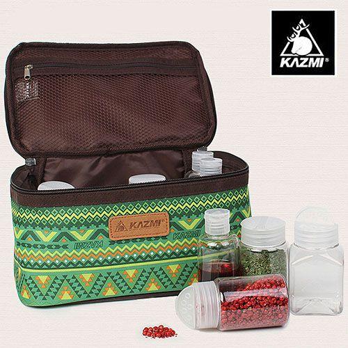 ├登山樂┤韓國KAZMI經典民族風調味料收納袋(L)-綠#K5T3K002