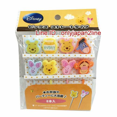 【真愛日本】15102000032造型食物叉8入-全人物  迪士尼 米老鼠米奇 米妮  日本限定 精品百貨 日本帶回