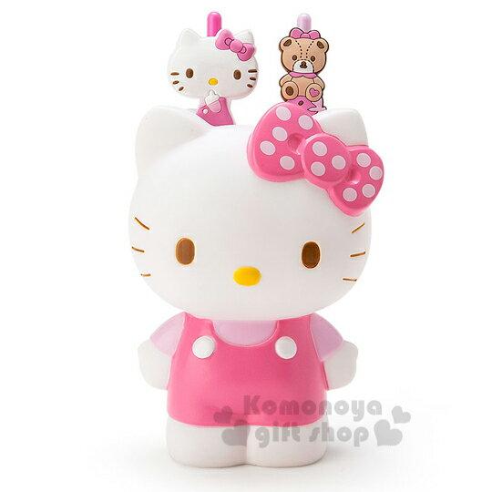 〔小禮堂〕Hello Kitty 造型筆筒附筆《粉.格紋.小熊.透明盒裝》文具禮盒系列