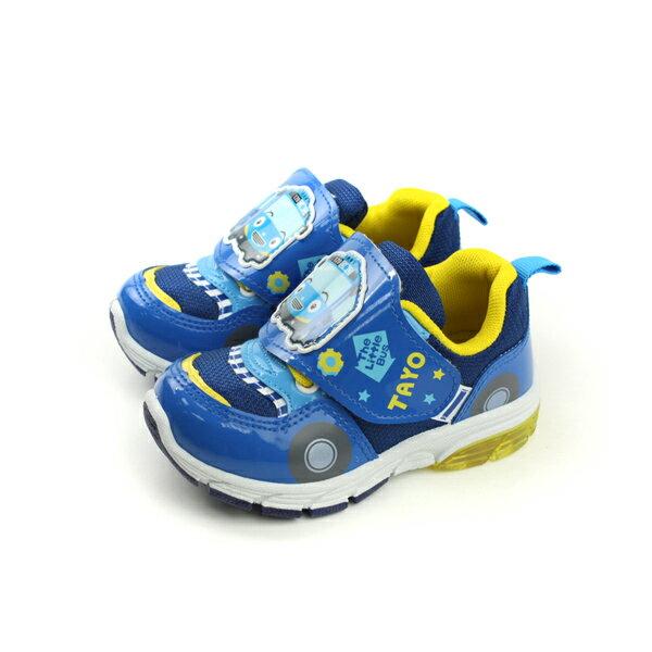 HUMAN PEACE:TAYO運動鞋電燈鞋魔鬼氈藍色中童T73060-550no924