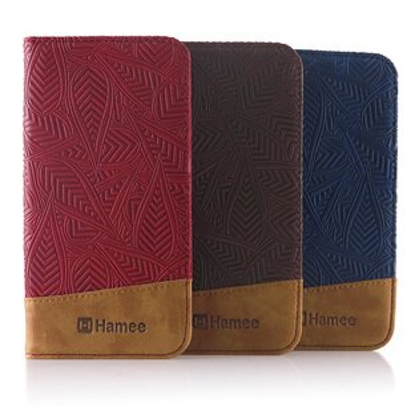 HameeiPhone7(4.7吋)壓印拼接磁吸皮套