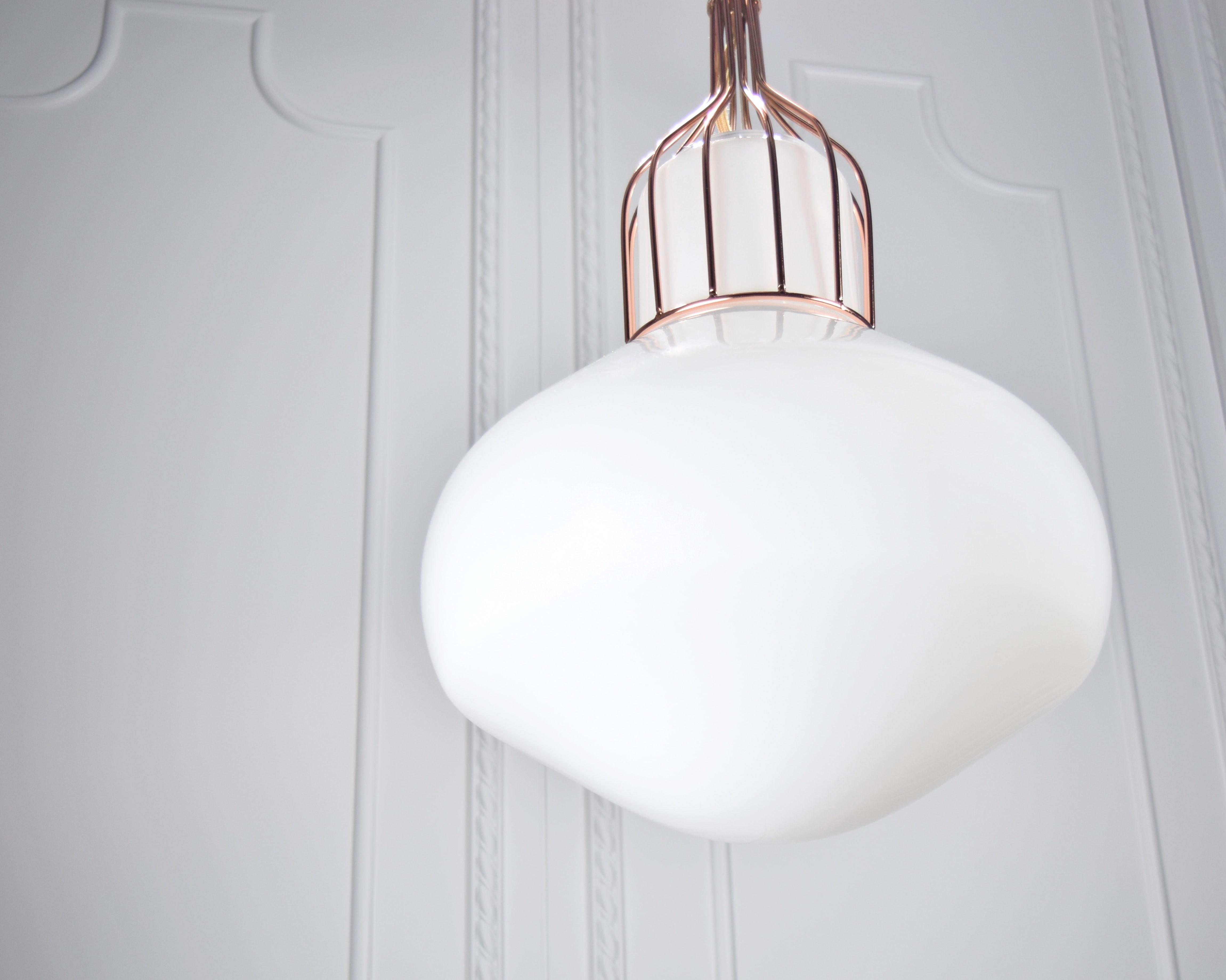 白玉紅銅吊燈-BNL00116 2