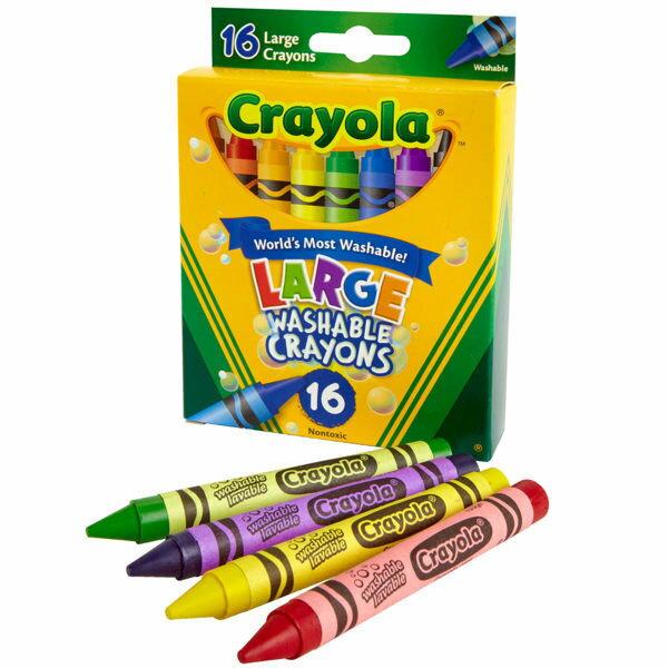 《 美國 Crayola 繪兒樂 》可水洗大蠟筆16色
