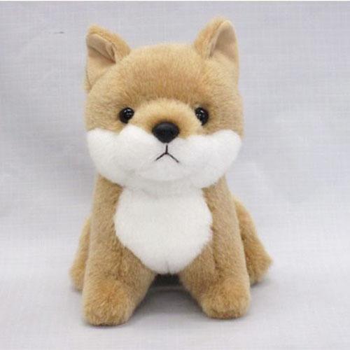 日本製柴犬絨毛娃娃玩偶坐姿18cm咖啡色741530代購