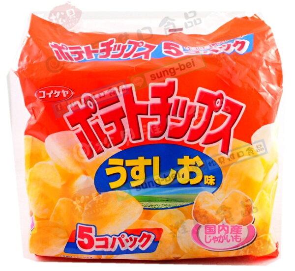 松貝進口食品專賣店:《松貝》湖池屋鹽味洋芋片5袋入150g【4901335122268】