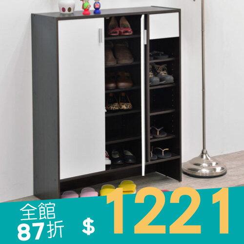 鞋櫃/鞋架/收納 TZUMii 歐式小宅雙門一抽鞋櫃(雙色可選)