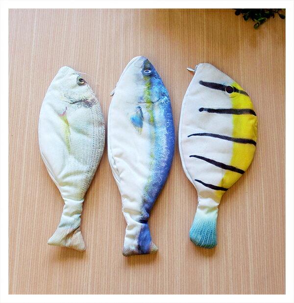 【aife life】魚型零錢包/日韓超人氣筆袋/搞怪仿真海鮮魚KUSO零錢包/學生創意個性鉛筆文具盒/手機包化妝包收納袋