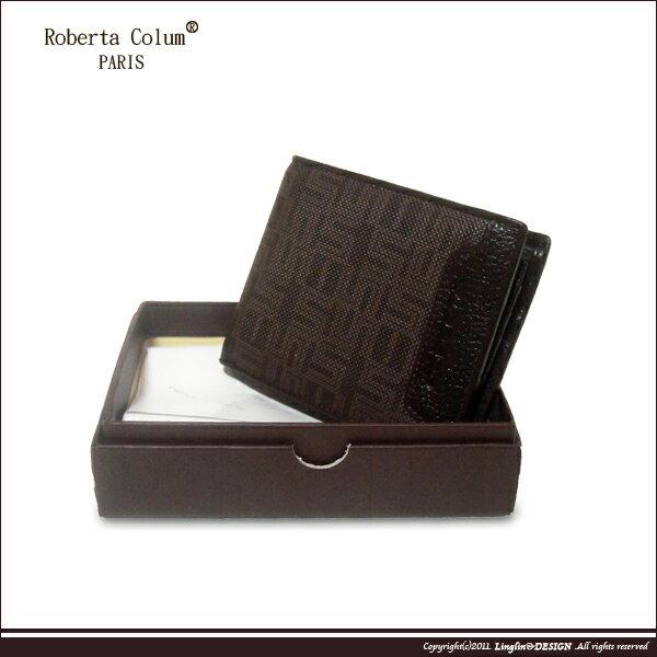 良林皮件:【RobertaColum】諾貝達雅痞幾何系列左右翻短夾RM-28704