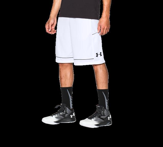 《UA出清69折》Shoestw【1271953-100】UNDER ARMOUR UA服飾 籃球褲 運動褲 12吋 白色 男生