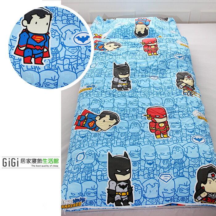 《GiGi居家寢飾生活館》兒童卡通睡袋 台灣製造 正義聯盟