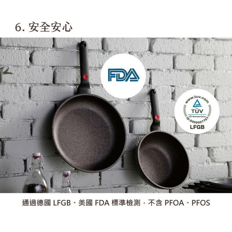 韓國 Chef Topf 崗石系列耐磨不沾煎鍋 28 公分/韓國製造/不沾鍋/洗碗機用/耐用崗石/方鍋 8