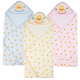黃色小鴨 夏季色紗布印花包巾【德芳保健藥妝】顏色隨機出貨