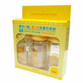 黃色小鴨 寬口徑PES葫蘆奶瓶組 270cc*3入【德芳保健藥妝】