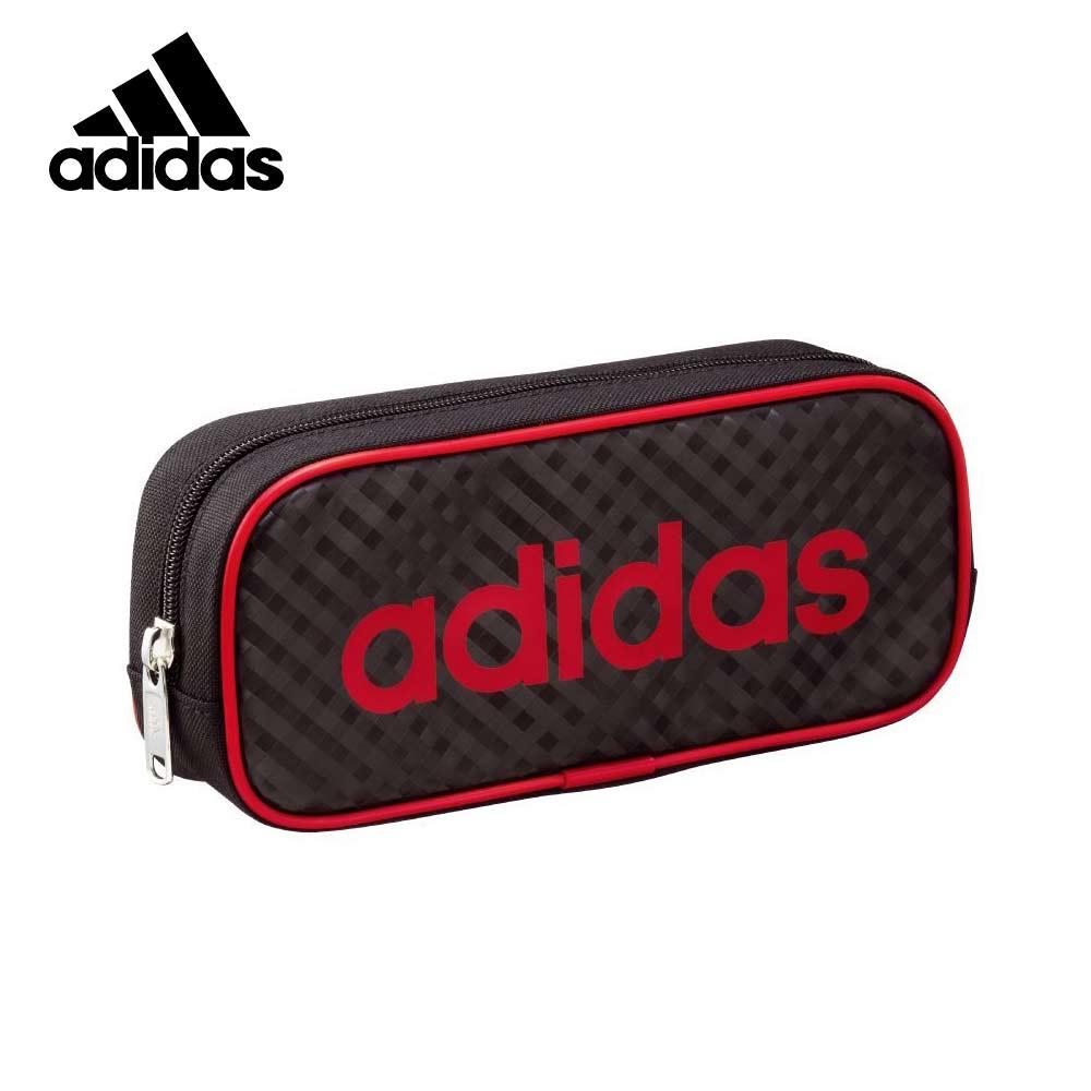 紅色款【日本正版】愛迪達 菱格紋造型 筆袋 鉛筆盒 Adidas x Uni - 210628