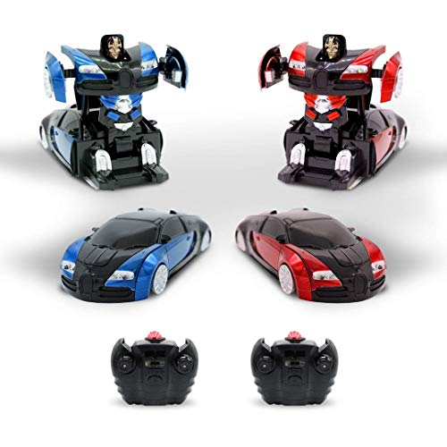 Kids RC Toy Remote Control Car Set Wall Climbing Transforming Robot Sports  Vehicle Kit Radio Control Mini Gravity Cars Boys Electric Toys 1:24 Scale
