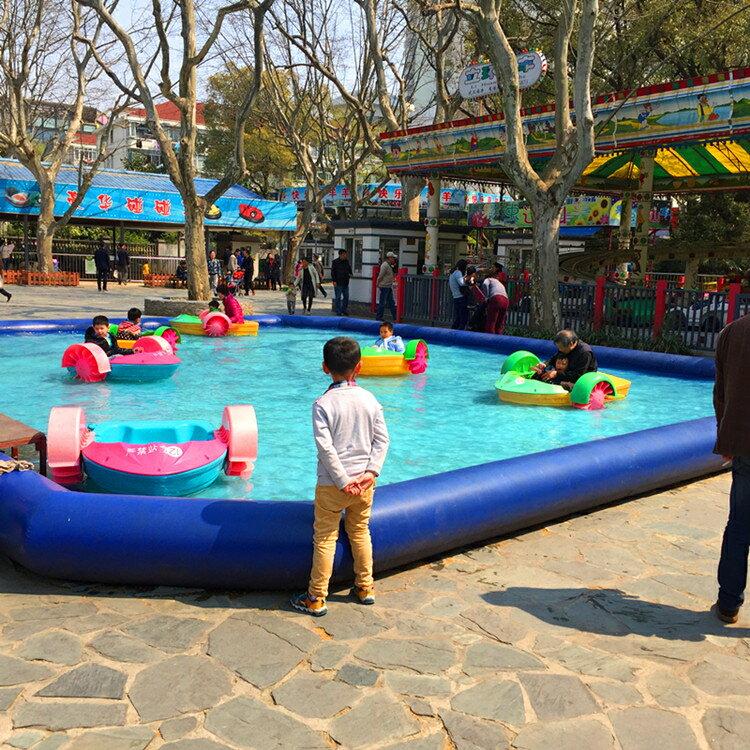 充氣水池戶外大型充氣游泳池兒童游泳池手搖船水上滾筒球  全館免運