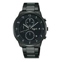 agnès b.到agnes b VD57-KY30SD(BM3018J1) 法式時尚計時腕錶/黑面40mm