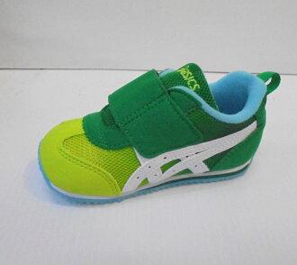 [陽光樂活]ASICS 亞瑟士 綠X萊姆綠 童鞋 IDAHO BABY GR-ES 2 TUB159-89GR(13CM有瑕疵)
