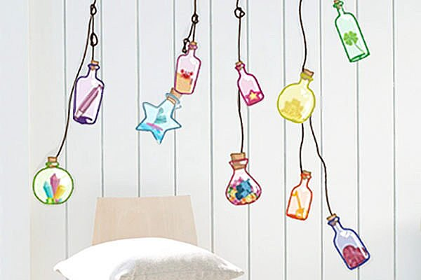 BO雜貨【YP1812】創意可移動壁貼 牆貼 背景貼 壁貼 時尚組合壁貼 璧貼 瓶中信