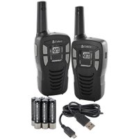 COBRA 16 Mile 22 Ch FRS/GMRS Walkie Talkie 2-Way Radios w/USB Cable | CXT195 (FACTORY RECERTIFIED)