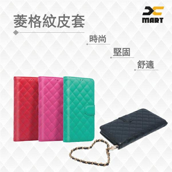 Xmart 華碩ASUS ZenFone GO ZB552KL 5.5 菱格紋 書本式 側