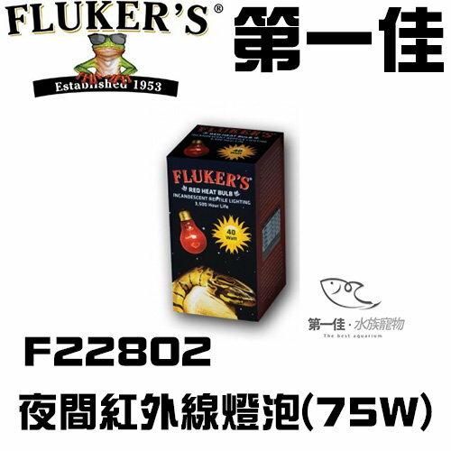[第一佳 水族寵物]美國FLUKER`S夜間紅外線燈泡F22802 75W給寵物溫暖的冬天