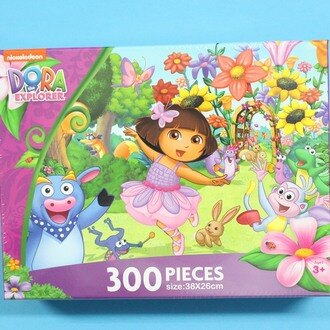 DORA朵拉拼圖 300片拼圖 DA013E花園篇(E)正版授權38cm x 26cm MIT製/一盒入{促250}