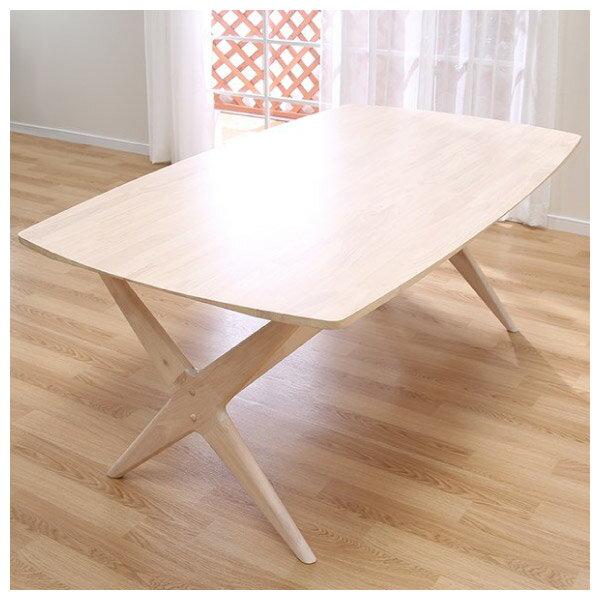 ◎(OUTLET)實木餐桌 RELAX 160 WW 橡膠木 福利品 NITORI宜得利家居 7