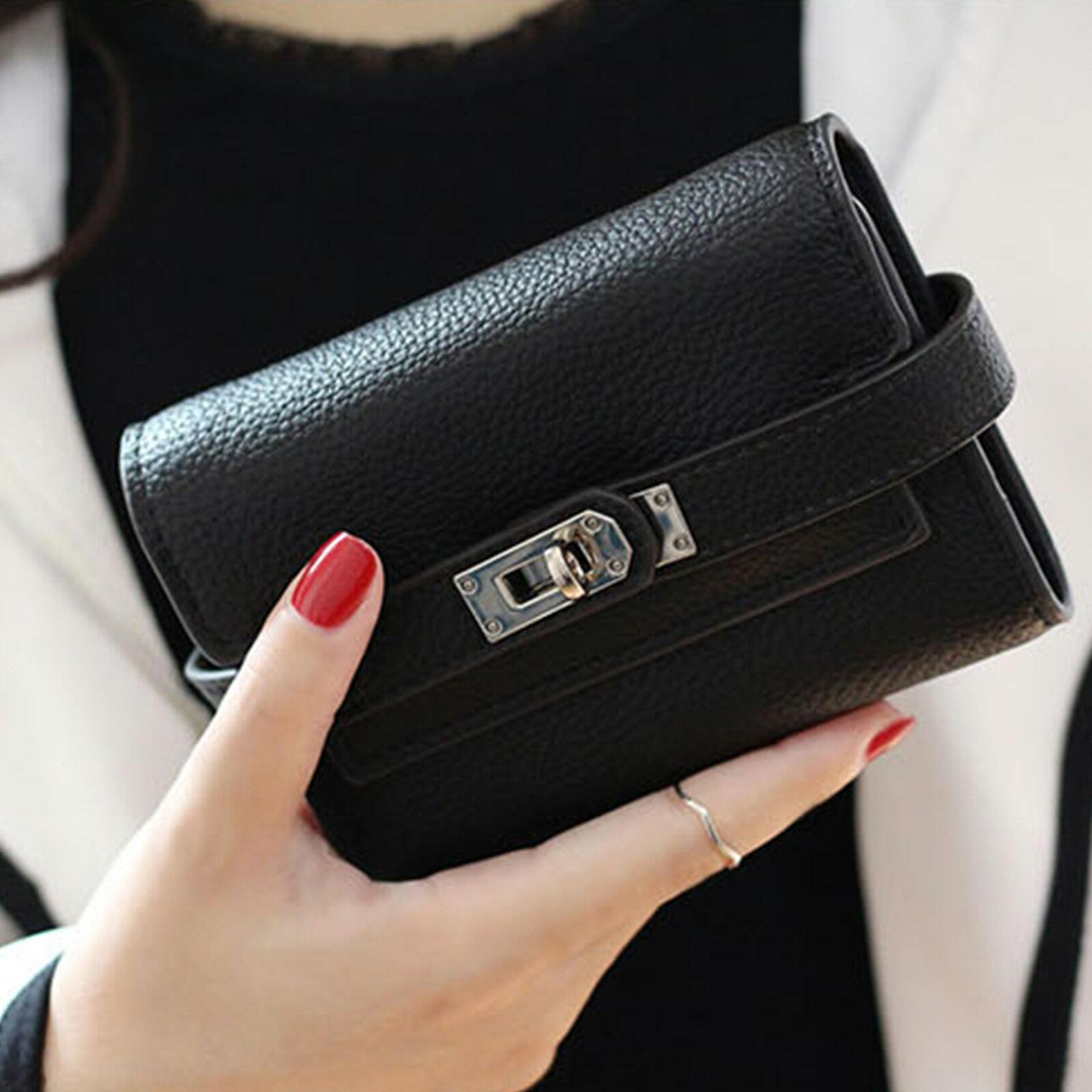 皮夾 錢包 紐扣三層零錢中夾短夾【O3218】☆雙兒網☆ 1