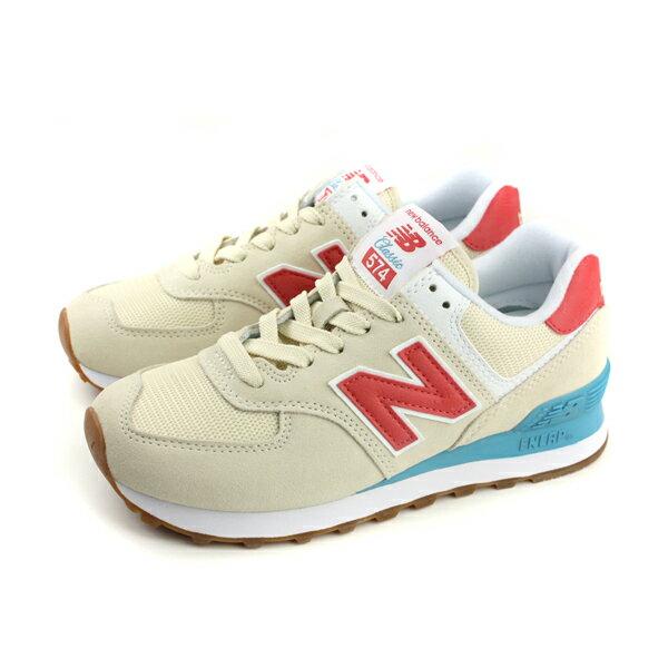 NEWBALANCE574系列運動鞋復古鞋米黃色窄楦女鞋WL574FLA-Bno477