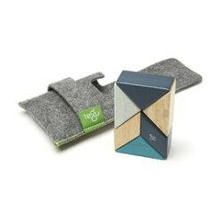 美國 TEGU 磁性積木6件組-藍色系【紫貝殼】