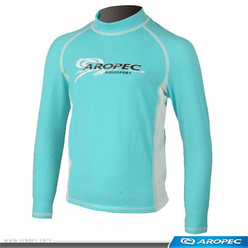Aropec 兒童游泳 防曬衣 水母衣 土耳其藍白 ;長袖泳衣;蝴蝶魚戶外