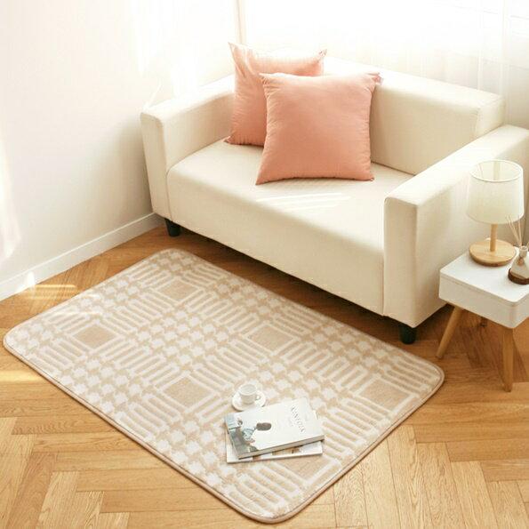 防滑柔軟觸感方形地毯