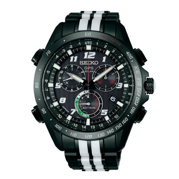 Seiko Astron 8X82-0AL0D(SSE037J1)限量套錶鈦金屬太陽能GPS腕錶/黑面44.6mm