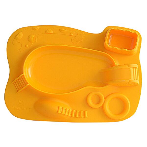 【麗嬰房】加拿大MARCUS&MARCUS動物樂園遊樂造型餐盤-黃色