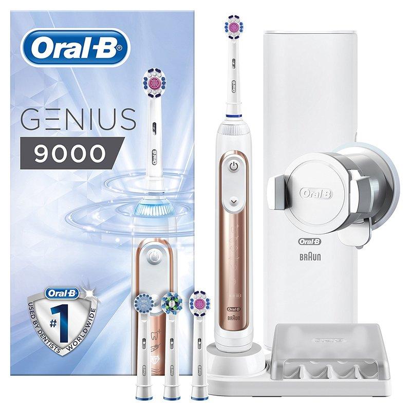 德國百靈 Oral-B 3D電動牙刷 Genius 9000 極緻黑/璀璨白/玫瑰金 (智慧追蹤款)